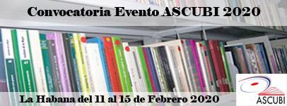 Convocatoria Evento ASCUBI 2020