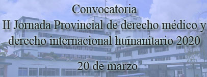 II Jornada Provincial de derecho médico y derecho internacional humanitario 2020